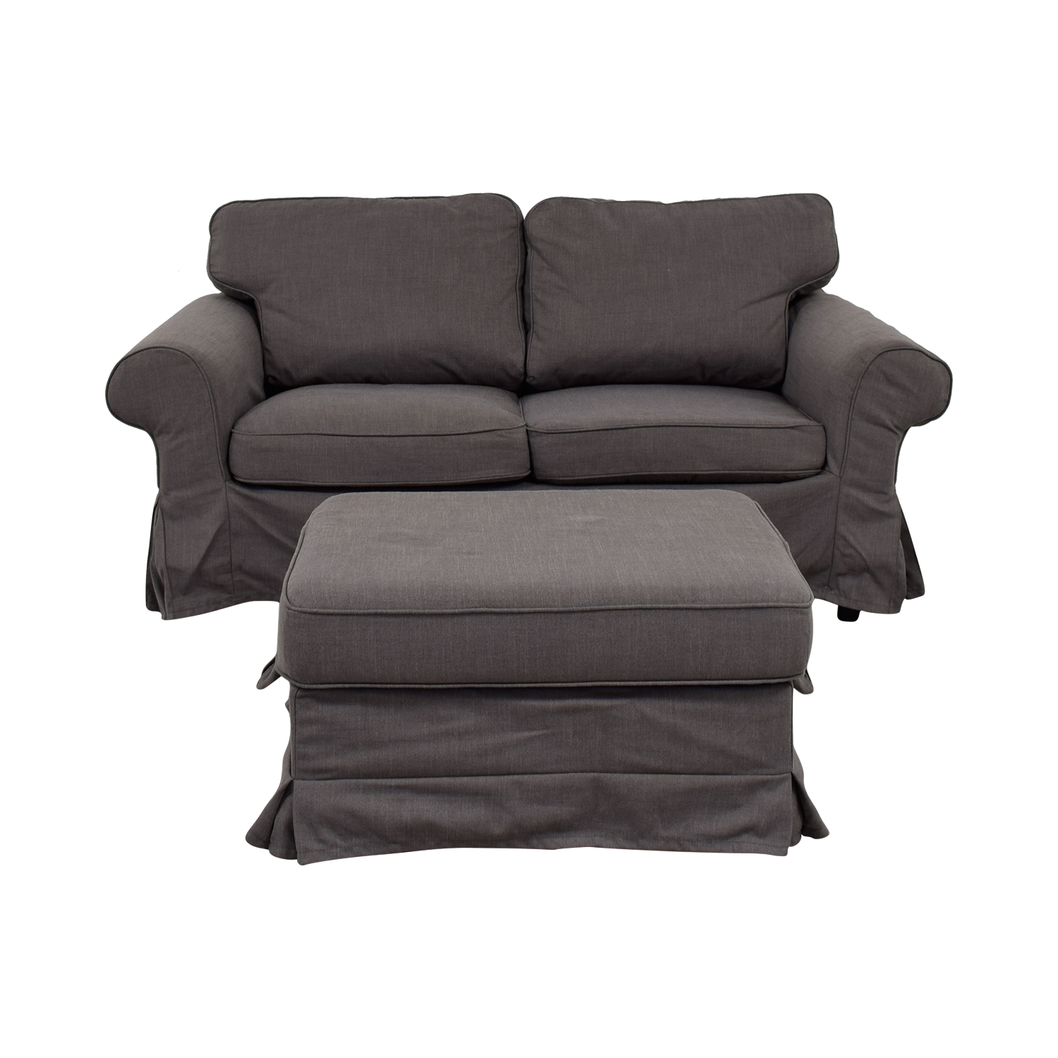 Loveseat Ikea 90 Off Ikea Ikea Grey Loveseat And Ottoman Sofas