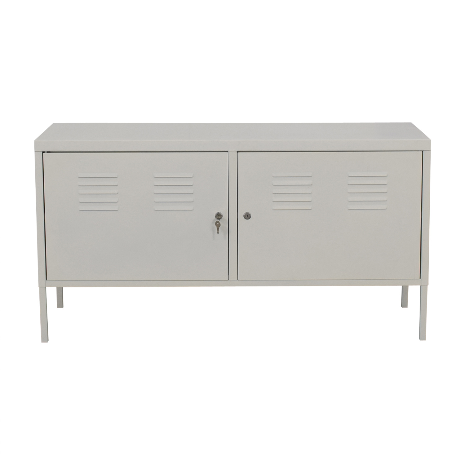 Ikea Storage Cabinets 68 Off Ikea Ikea White Metal Locker Cabinet Storage