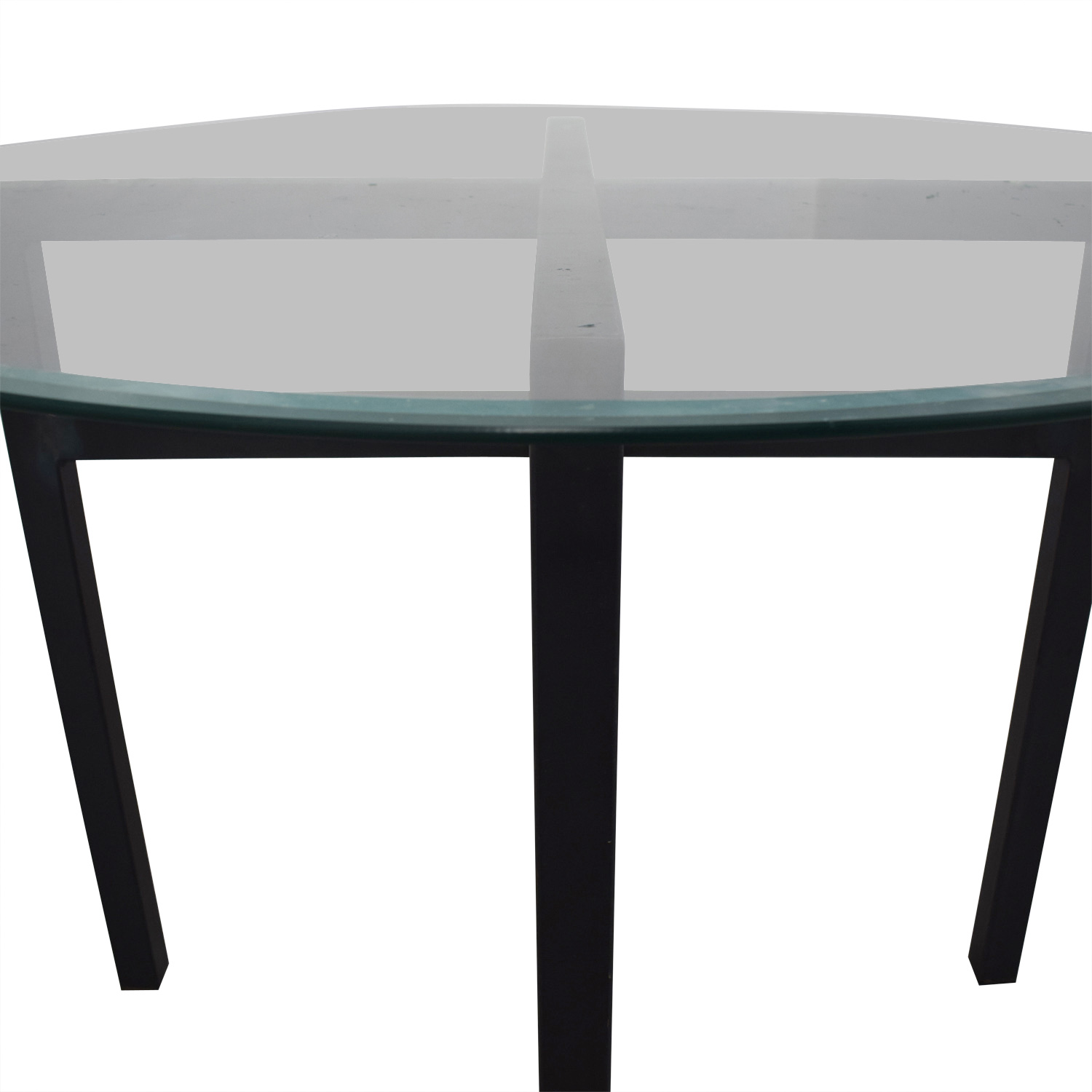 Round Glass Top Dining Table 74 Off Room Board Room Board Benson Round Glass Top Dining Table Tables
