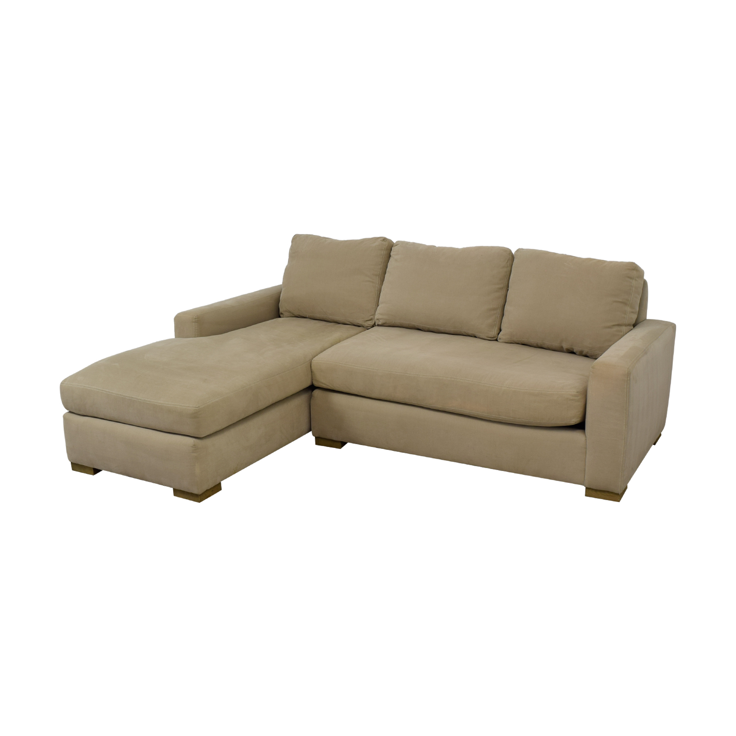 Petite Chaise 83 Off Restoration Hardware Restoration Hardware Beige Petite Chaise Sectional Sofas
