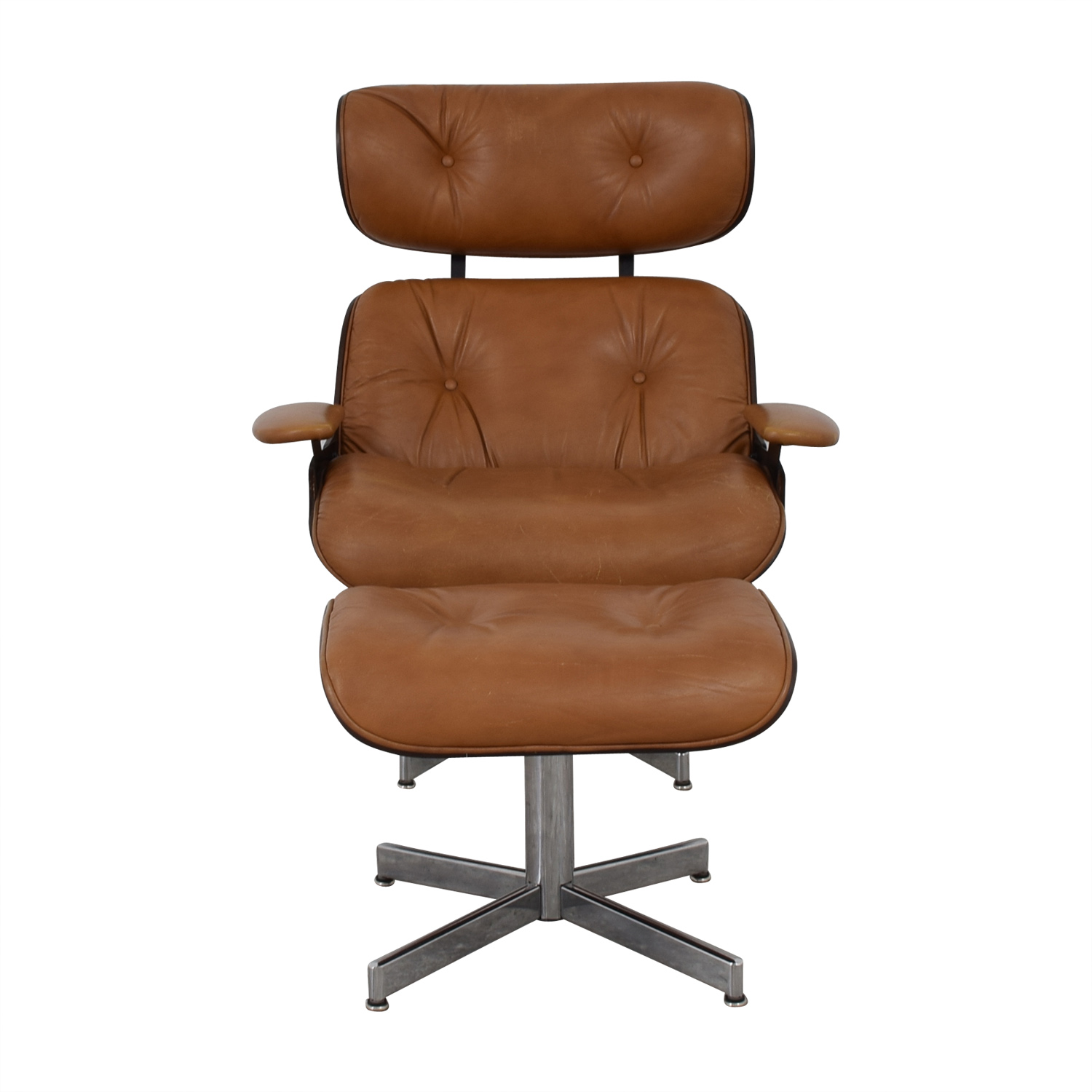 Eames Ottoman 55 Off Plycraft Plycraft Eames Style Lounge Chair And Ottoman Chairs