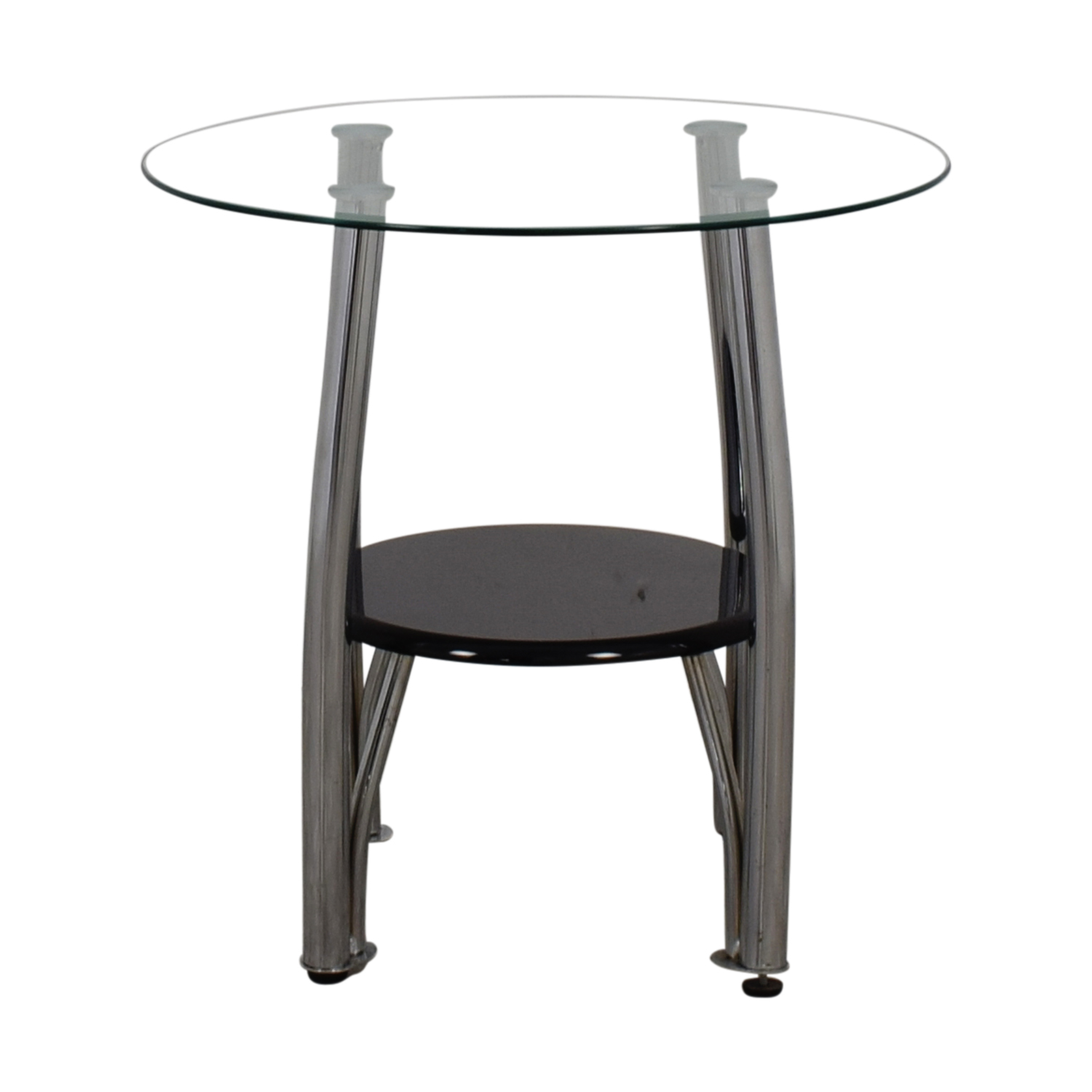Black End Tables With Drawer 86 Off Ashley Furniture Ashley Furniture Round Glass And Black End Table Tables