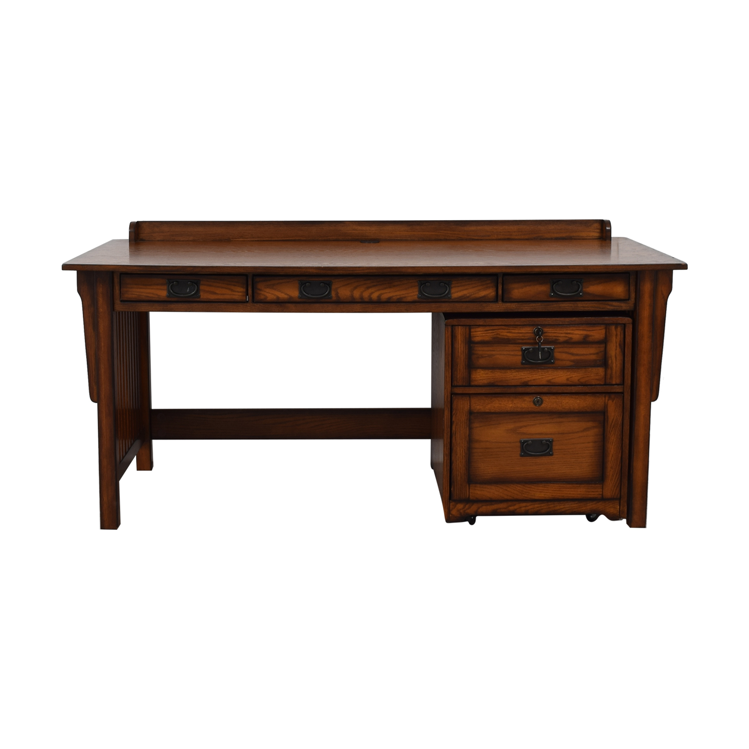 Desk With File Cabinet 90 Off Hammary Furniture Hammary Furniture Wood Desk And File