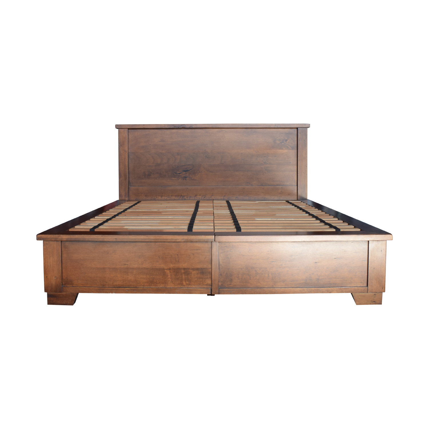 Buy A Bed 71 Off Pottery Barn Pottery Barn Sumatra Wood King Platform Bed With Storage Beds