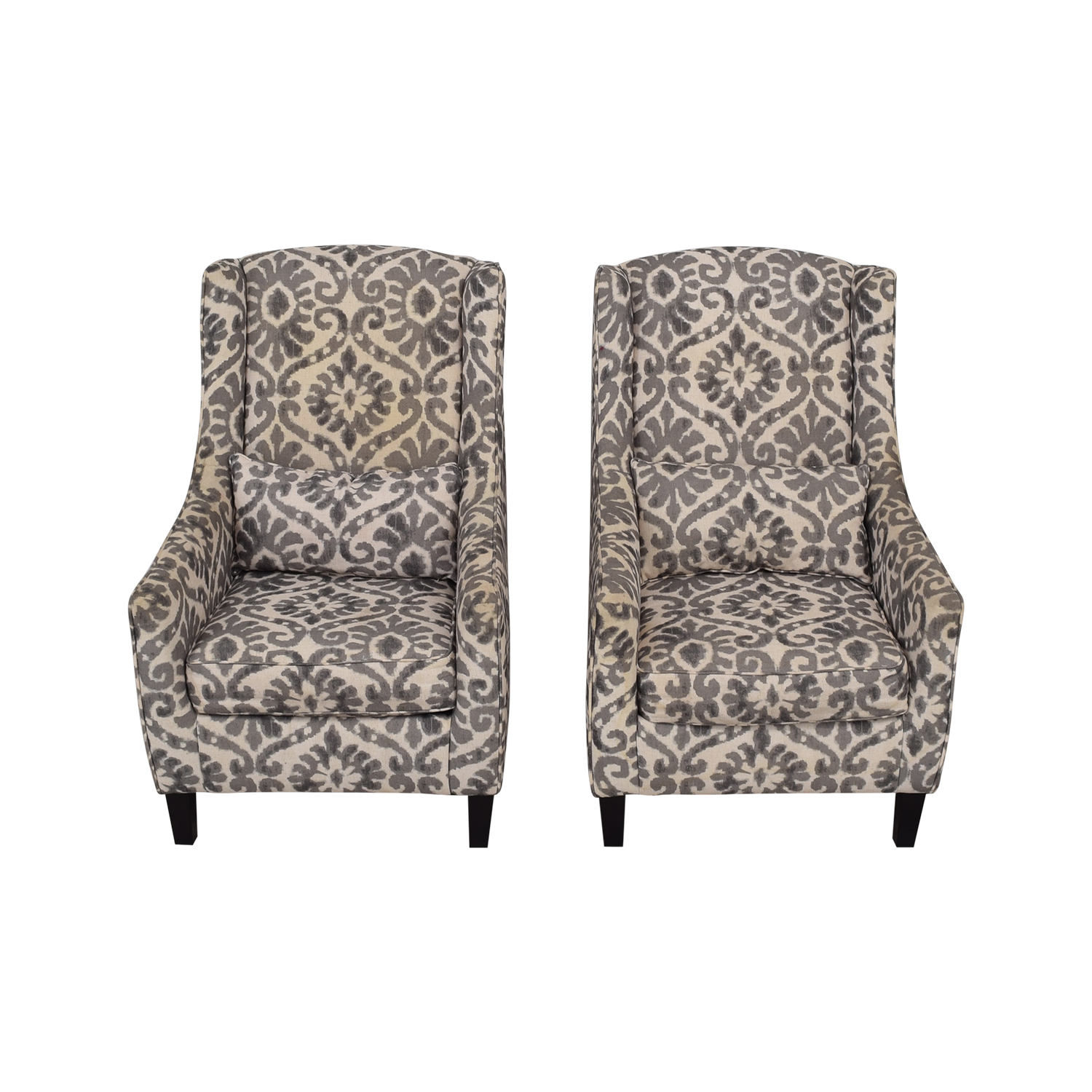87 Off Ashley Furniture Ashley Furniture Grey And White Accent Chairs Chairs