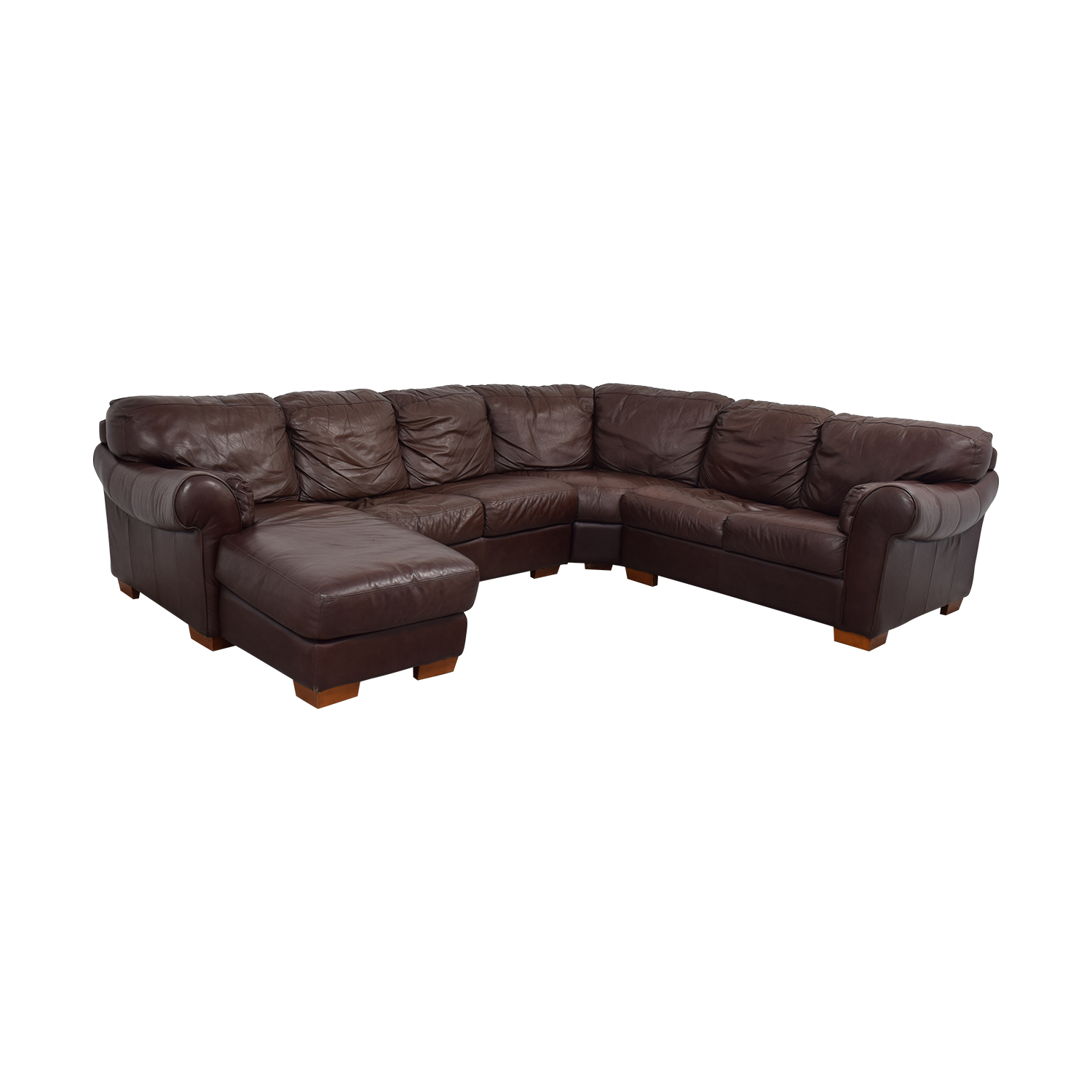 Divani Leather Sofa For Sale 89 Off Chateau D Ax Chateau D Ax Divani Brown Leather L