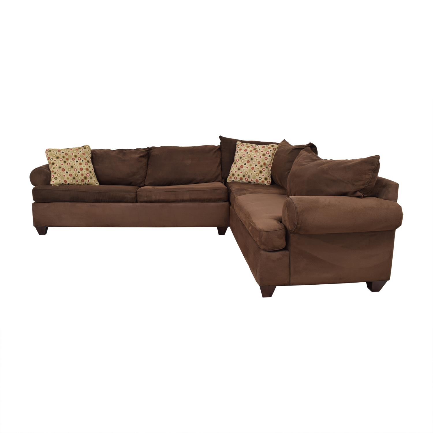 Sofa Sectionals With Bed 76 Off Raymour Flanigan Raymour Flanigan Brown L Shaped