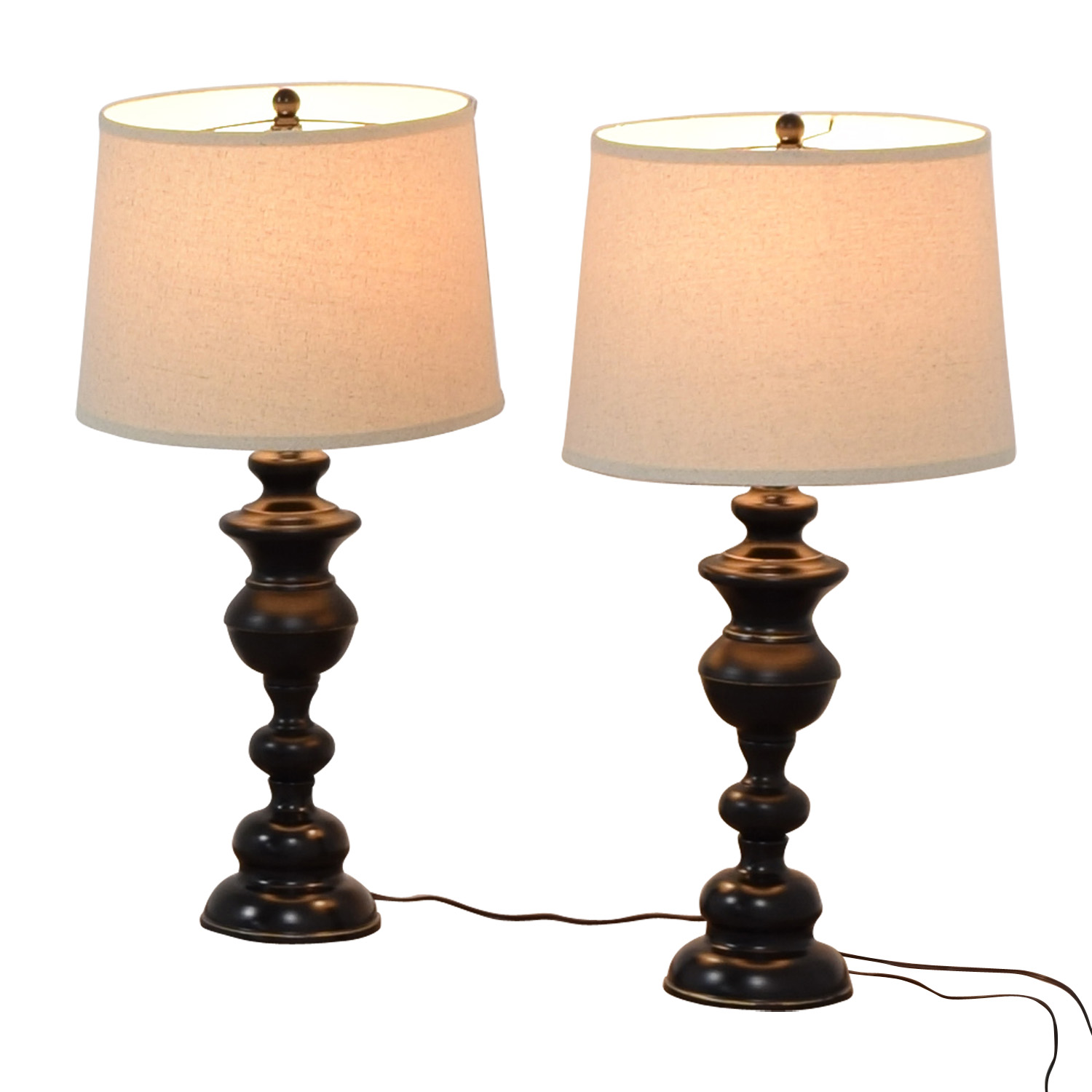 Lamps Online 53 Off Vintage Black Base Table Lamps Decor