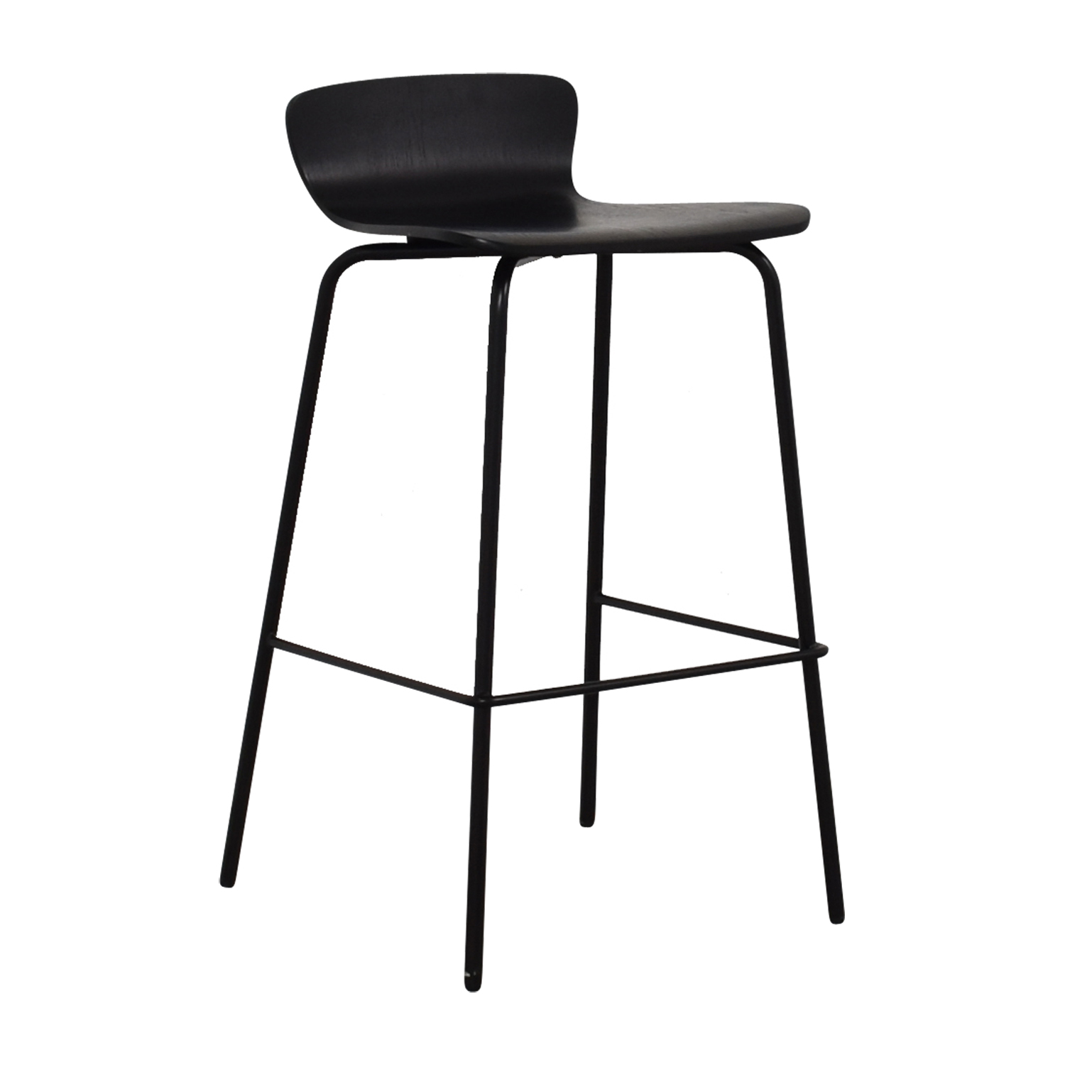 Stool Chair 90 Off Crate Barrel Crate Barrel Felix Black Counter Bar Stool Chairs