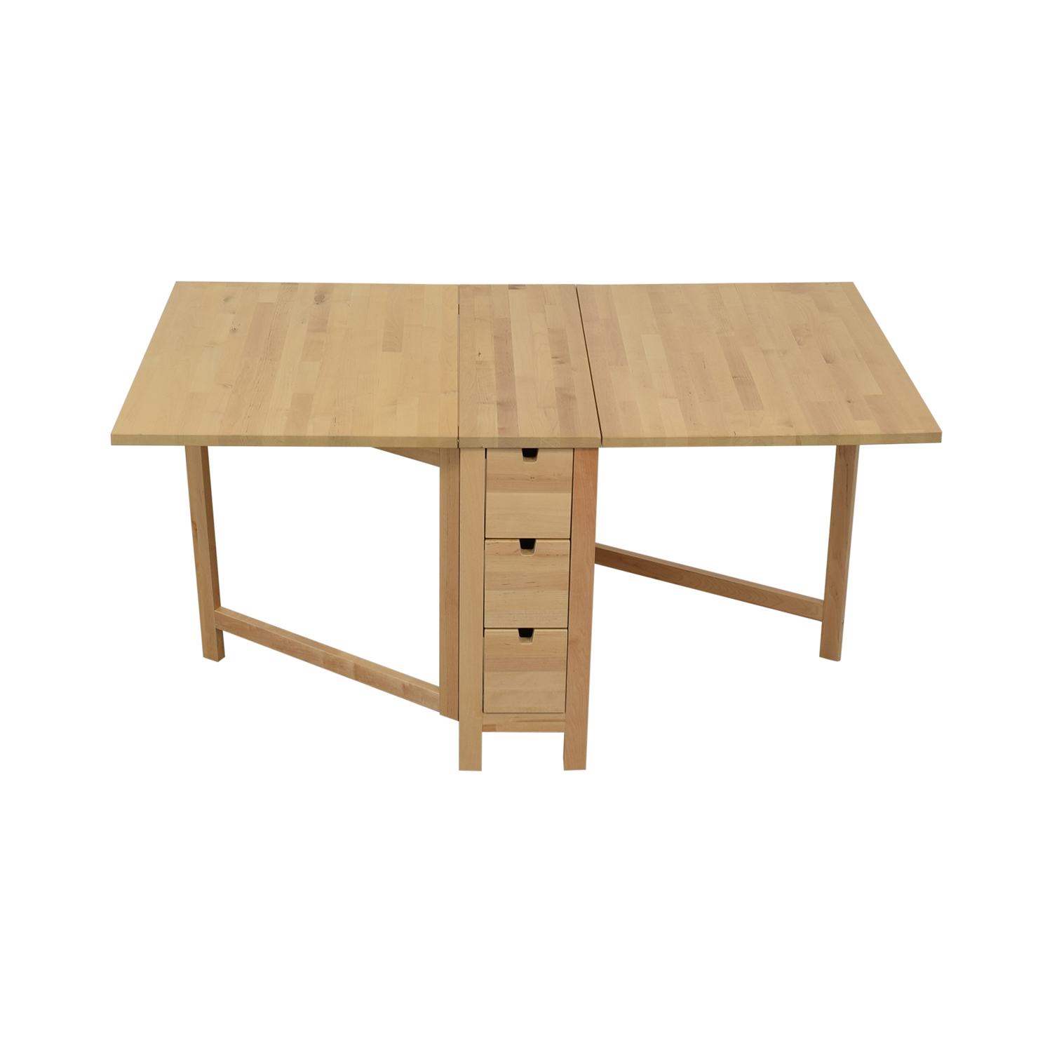 Folding Wooden Table Ikea 58 Off Ikea Ikea Norden Gateleg Folding Table With Storage Drawers Tables