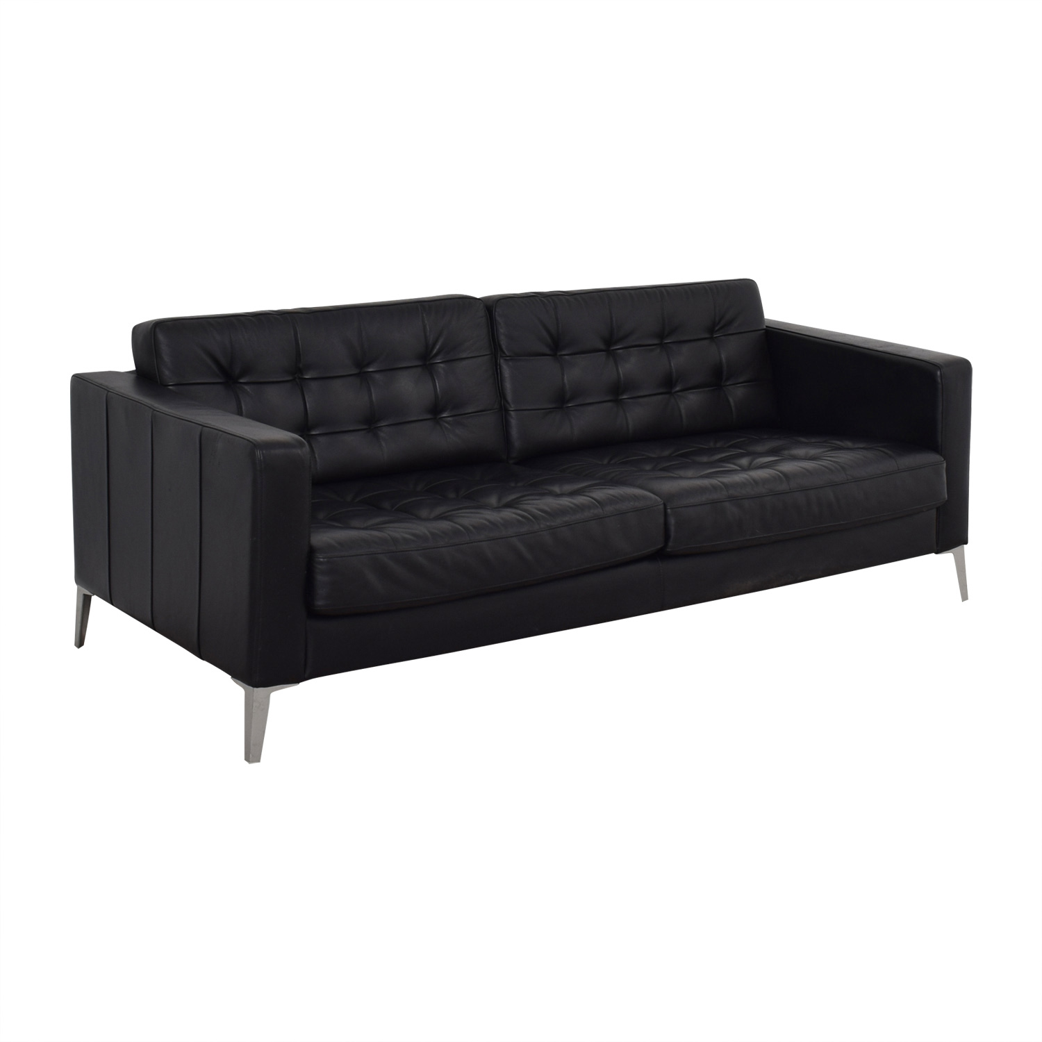 Couches In Ikea 78 Off Ikea Ikea Black Tufted Two Cushion Sofa Sofas