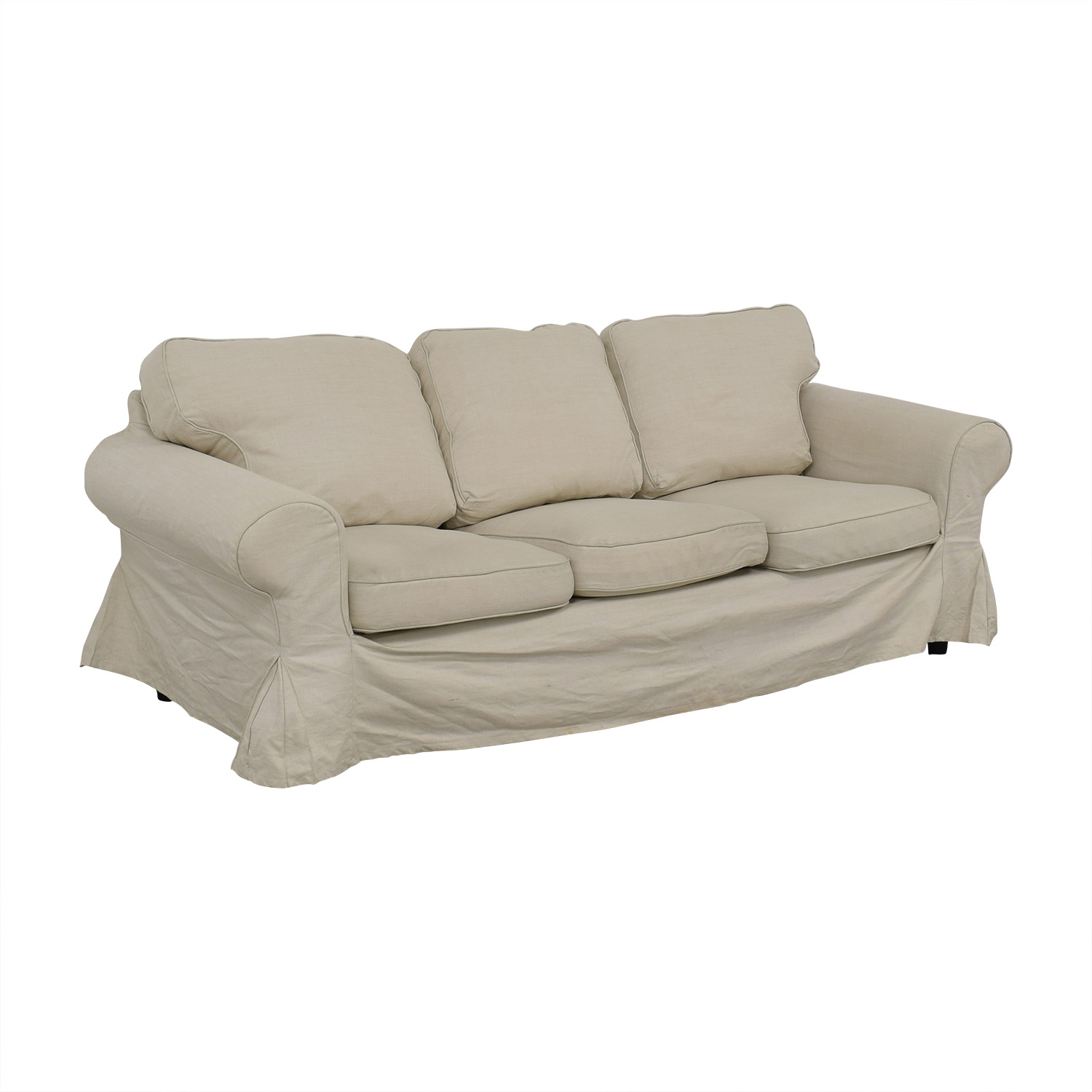 Ektorp Sofa From Ikea 90 Off Ikea Ikea Ektorp Lofallet Beige Three Cushion Sofa Sofas