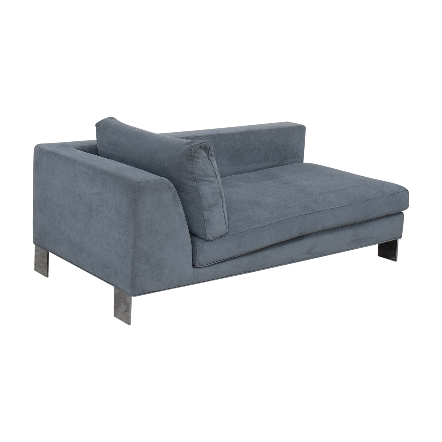 Chaises Discount 87 Off Minotti Minotti Light Blue Ultrasuede Chaise Sofas
