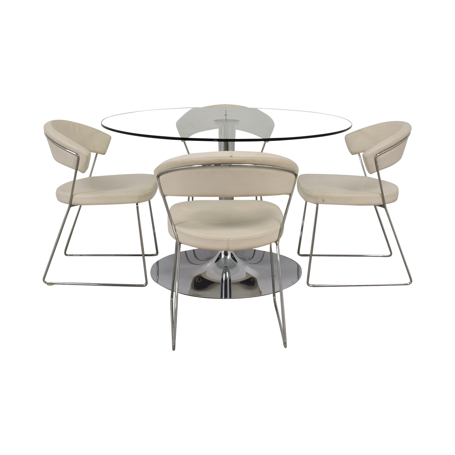 Glass Dining Table And Chairs 81 Off Calligaris Calligaris Planet Glass Dining Table With Calligaris New York Chairs Tables