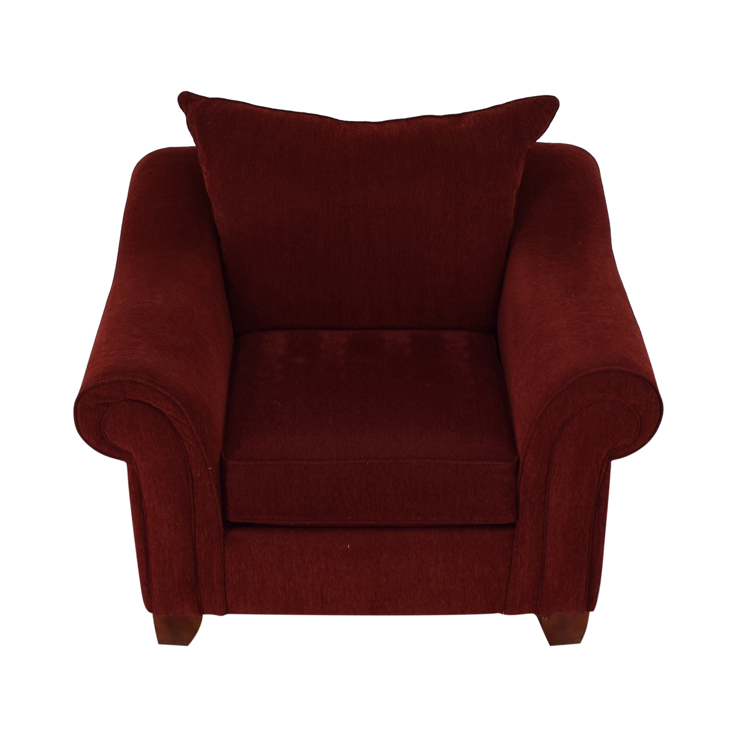 75 Off Raymour Flanigan Raymour Flanigan Red Arm Accent Chair Chairs  sc 1 st  La Cucina Italiana Tema Dørhåndtak Ytterdør Byggmakker All American ... & Red Chair And A Half With Ottoman | Used Restaurant Chairs For Sale ...
