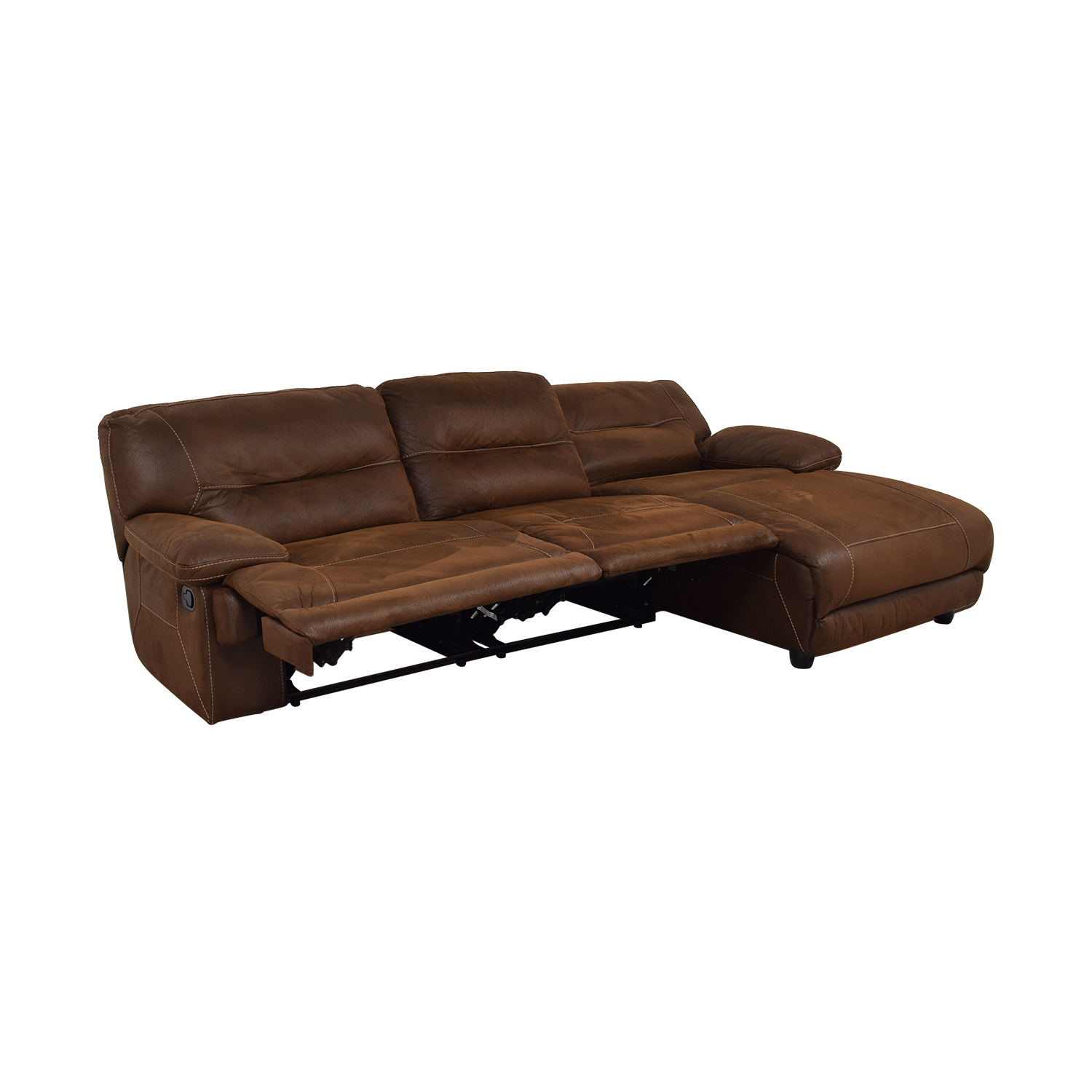 Furniture Chaise 71 Off Bob S Discount Furniture Bob S Discount Furniture Brown Tufted Chaise Sectional Recliner Sofas