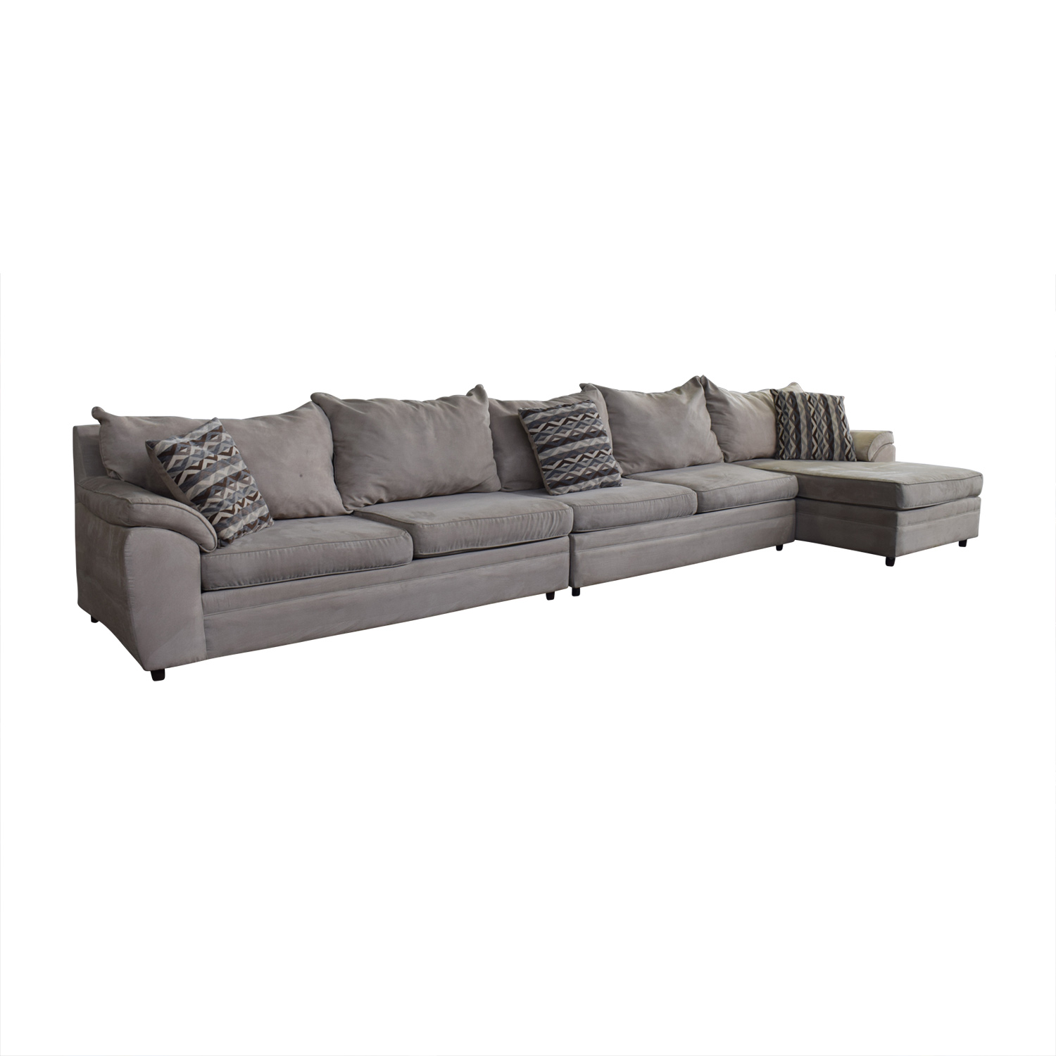 Chaises Discount 73 Off Bob S Discount Furniture Bob S Discount Furniture Beige Microfiber Chaise Sectional Sofas