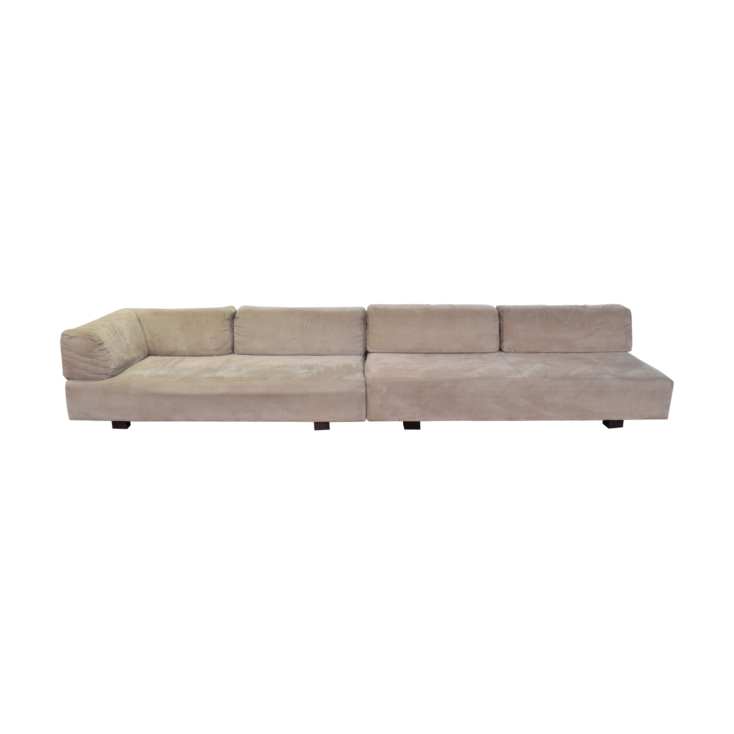 Sofa L Shape Dimensions 59 Off West Elm West Elm Tillary Beige L Shaped Sectional Sofas