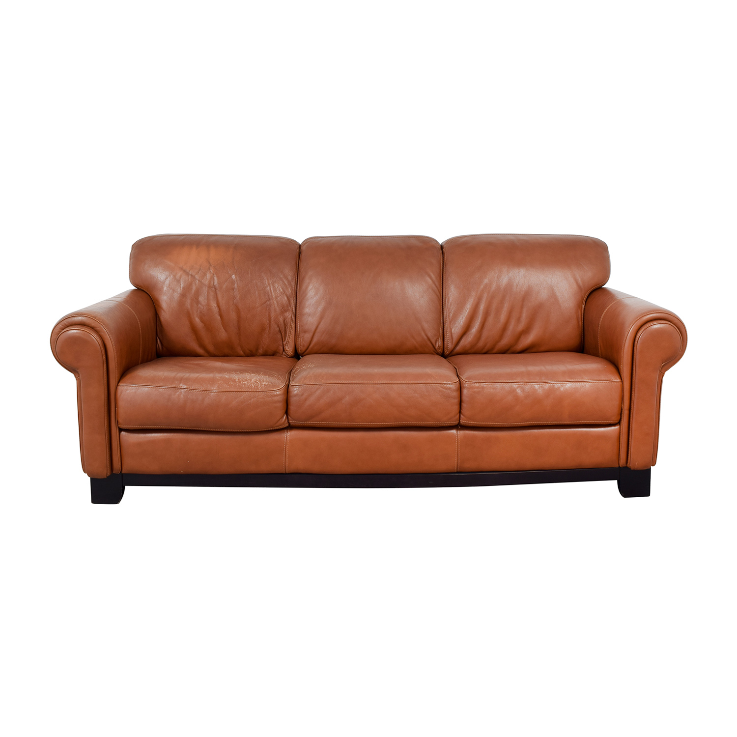 Sofa 60er 60 Off Macy S Macy S Cognac Three Cushion Couch Sofas