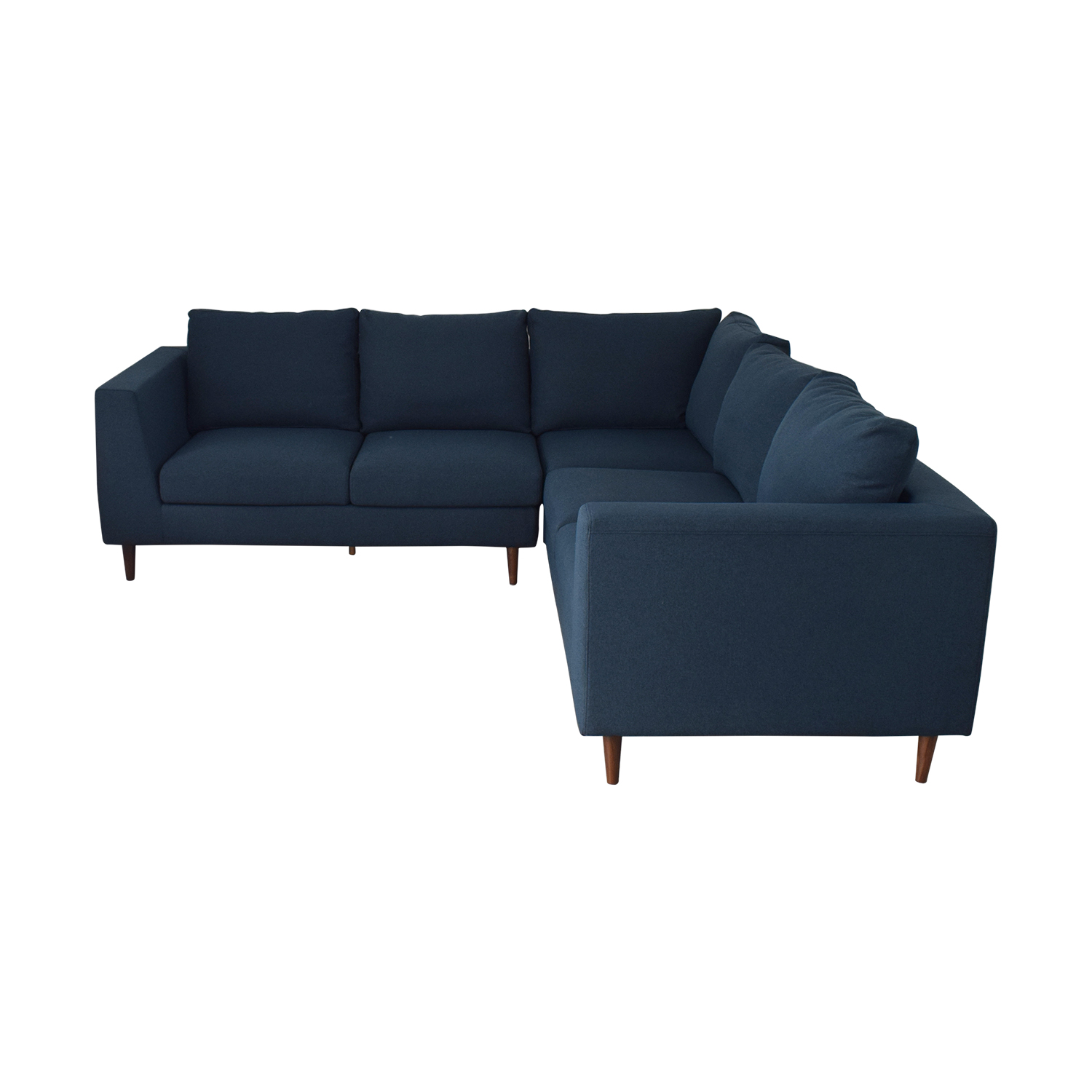 Alternative Sofa 56 Off Asher Aegean Blue Sectional With Down Alternative Cushions Sofas