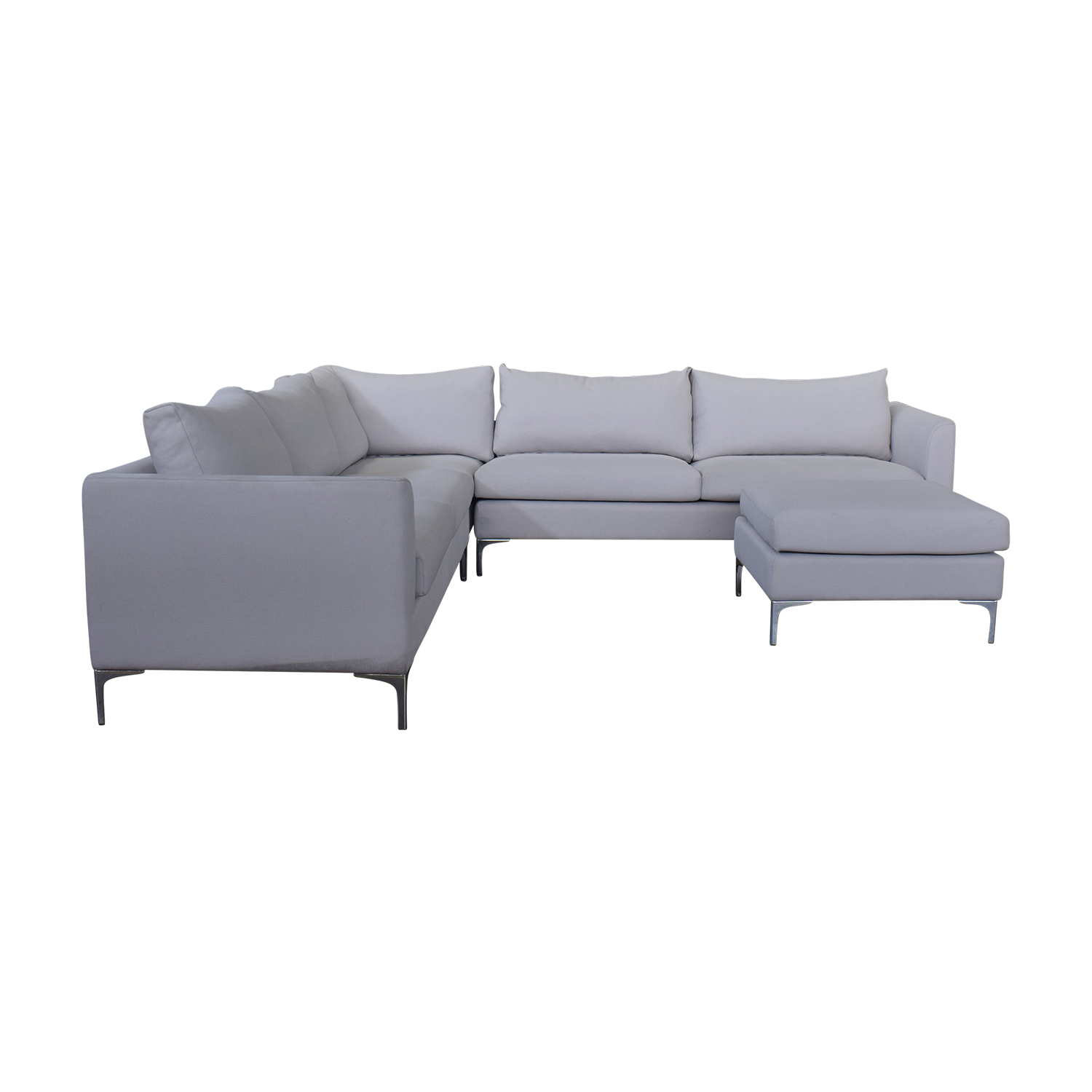 Sofa L Images 64 Off Owens Grey L Shaped Sectional With Ottoman Sofas