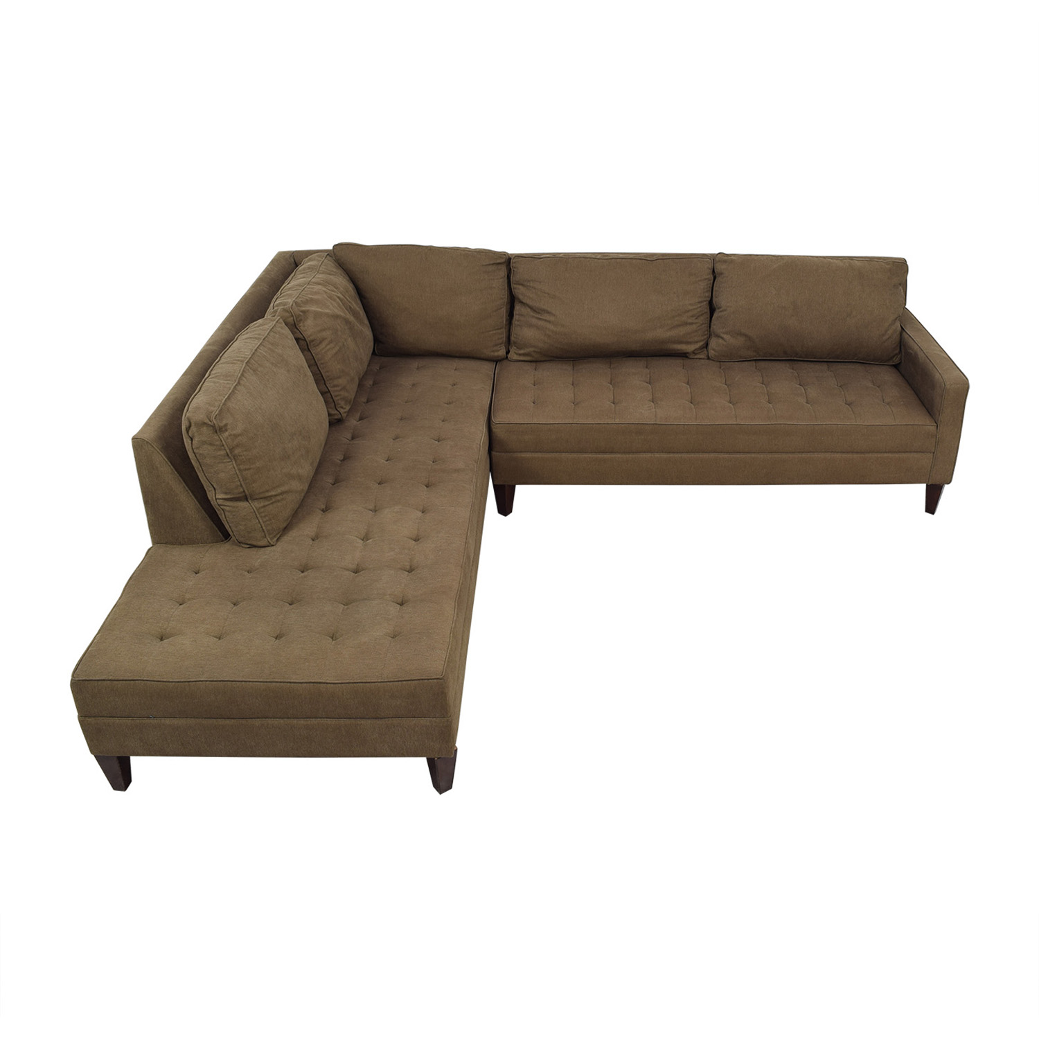 Chaise Z 73 Off Z Gallerie Z Gallerie Brown Tufted Chaise L Shaped Sectional Sofas