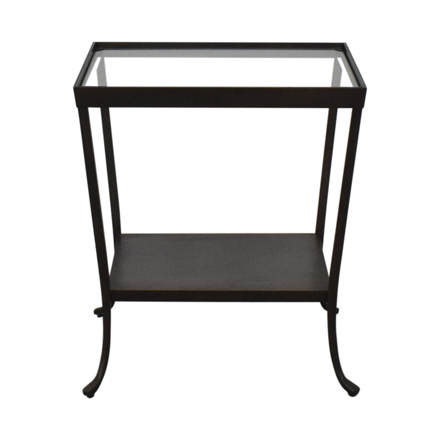 Metal Glass End Tables 68 Off Crate Barrel Crate Barrel Square Glass Metal Accent End Table Tables