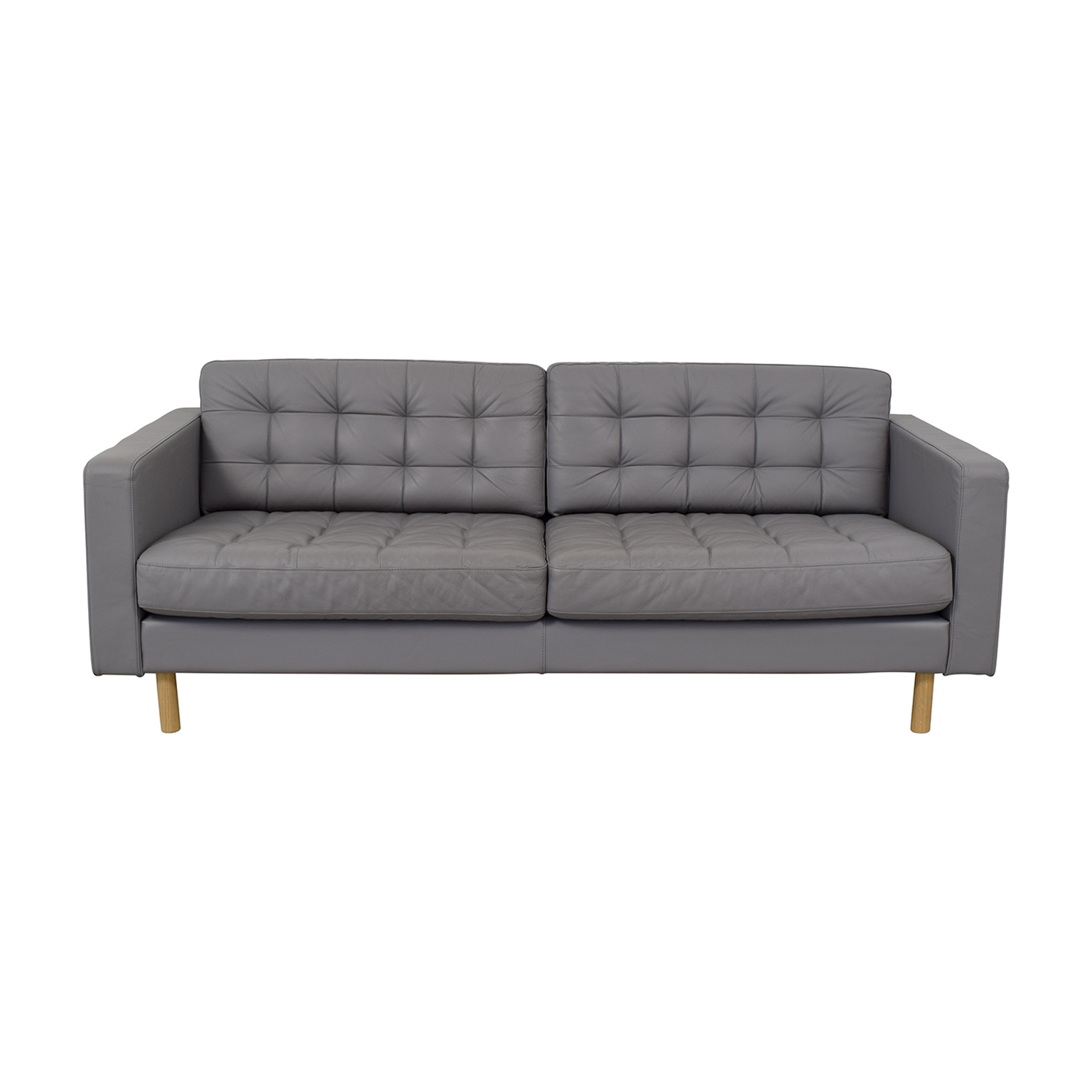 Couches In Ikea 56 Off Ikea Ikea Grey Leather Landskrona Sofa Sofas