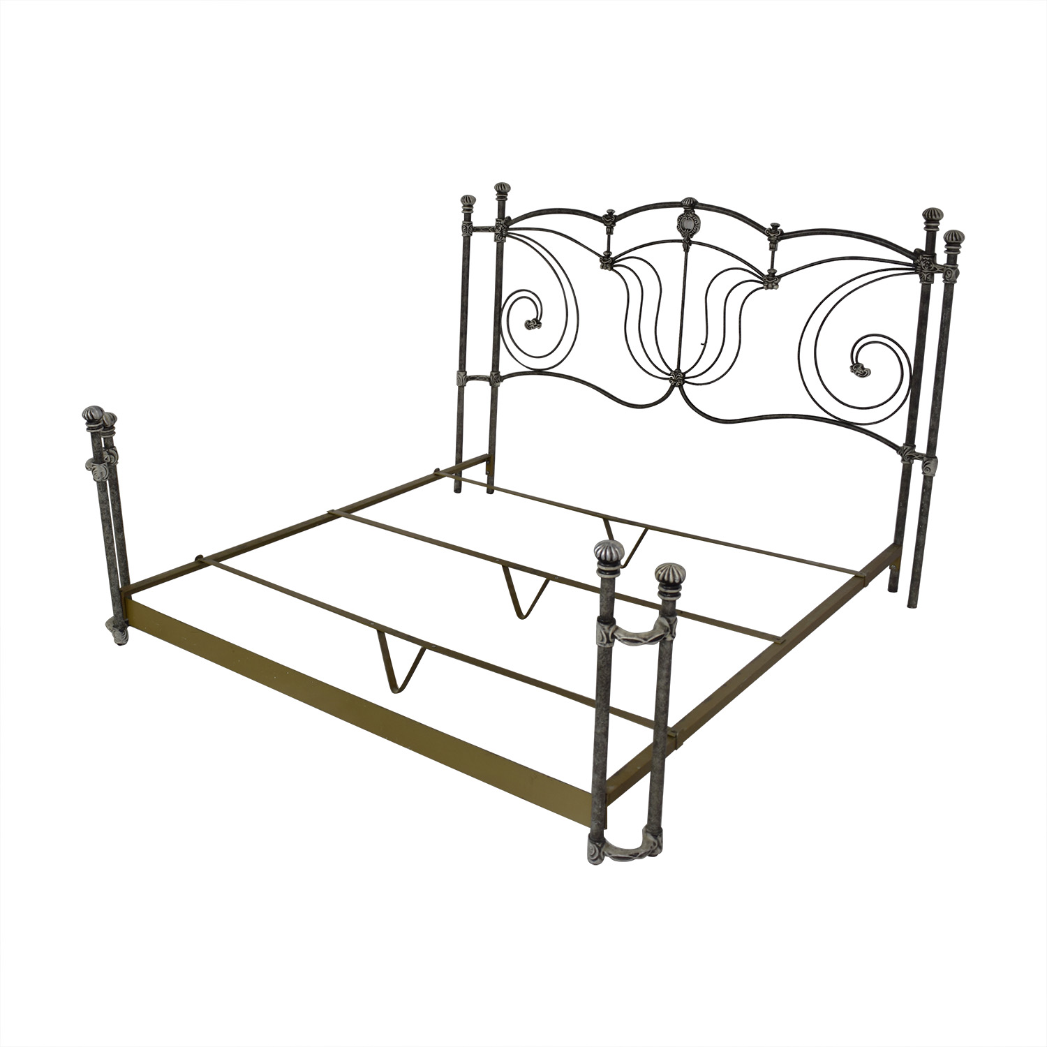 Bed Frame King Metal Matres Image