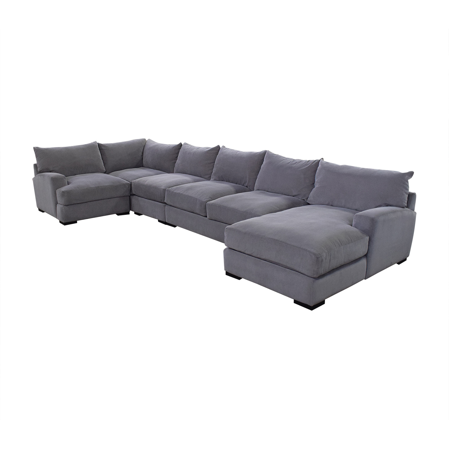 81 Off Macy S Rhyder 5 Piece Fabric Sectional Sofa With Chaise Sofas