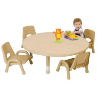 """Nature Color Toddler Round Tables 32"""" (Seats 4)"""