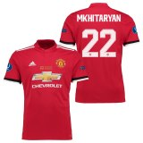 Manchester United Super Cup Final Home Shirt 2017-18 with Mkhitaryan 22 printing