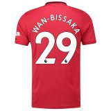 Manchester United Home Shirt 2019 - 20 with Wan-Bissaka 29