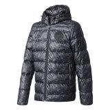 Manchester United Hooded Down Jacket - Black