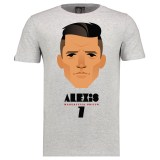Manchester United Sanchez T-Shirt by Stanley Chow - Grey - Mens