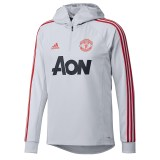 Manchester United Training Warm Top - Grey