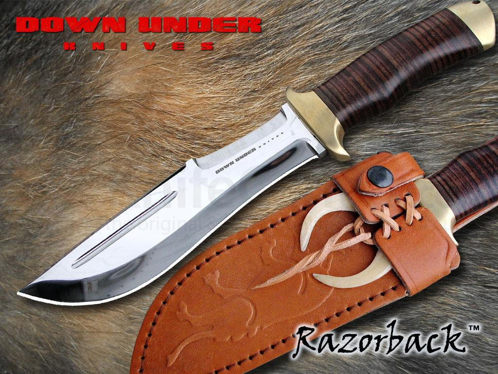 High End Cutlery Down Under Knives Razorback 7 Quot Polished Double Edge Blade