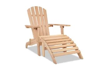Dick Smith Adirondack Chair And Ottoman Set Garden