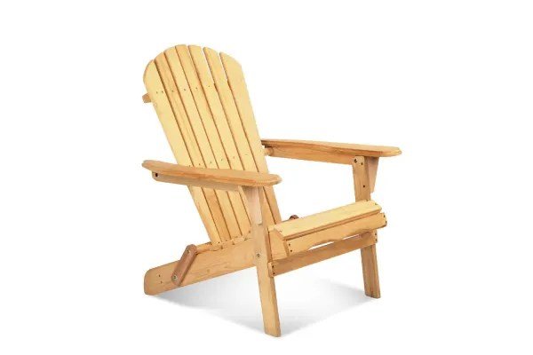 Dick Smith Adirondack Foldable Wooden Deck Chair