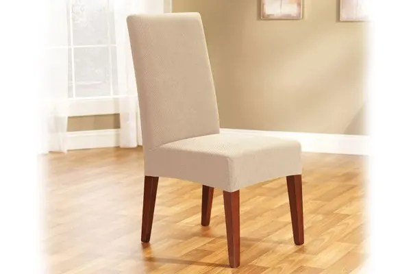 Dick Smith Surefit Pearson Dining Chair Cover Ivory