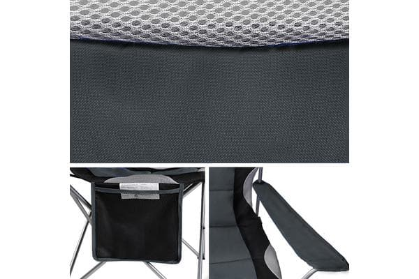 Dick Smith Set Of 2 High Back Folding Camping Arm Chair