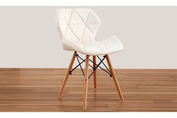 4 X Retro Replica Eames Pu Leather Dining Chair White