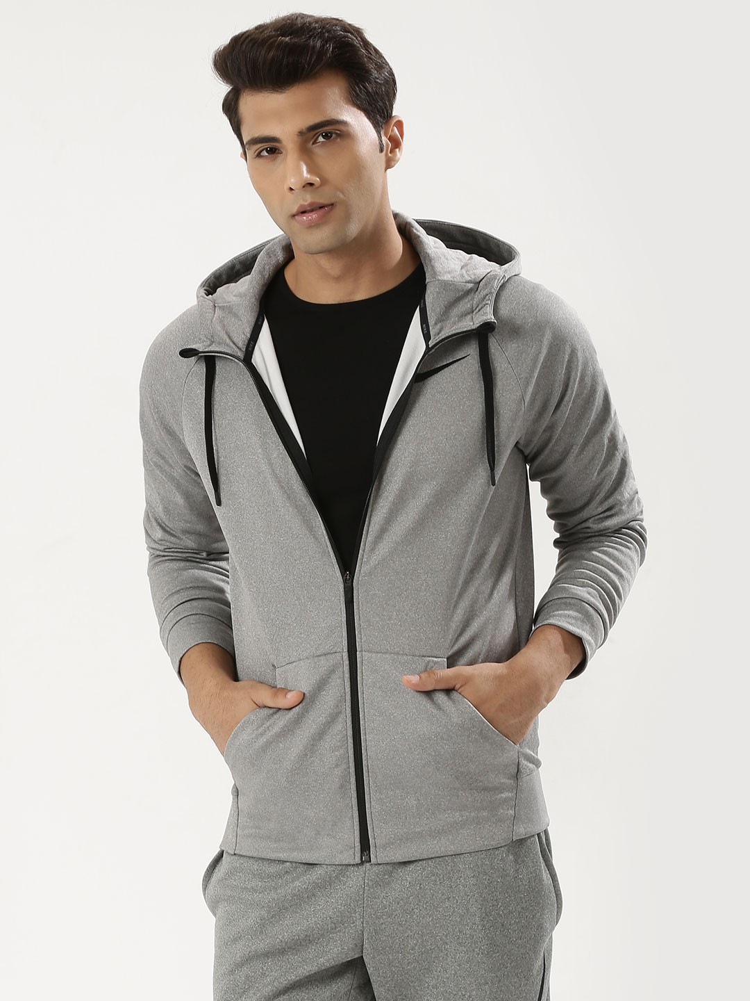 Nike Hoodie Carbon Heather Buy Nike Carbon Heather Black Therma Training Hoodie For Men