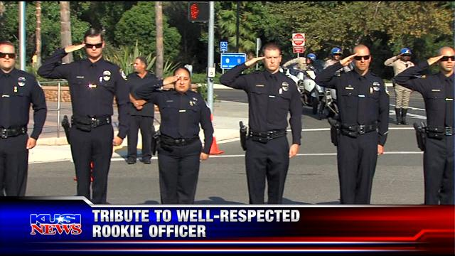 Tribute to well-respected Escondido rookie officer
