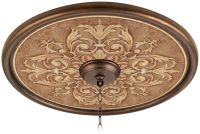 "Antiquity Clay 24"" Wide Bronze Finish Ceiling Medallion ..."