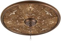 "La Fleur Brune 24"" Wide Bronze Finish Ceiling Medallion ..."