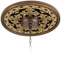 "Villa Gold 16"" Wide Bronze Finish Ceiling Medallion ..."