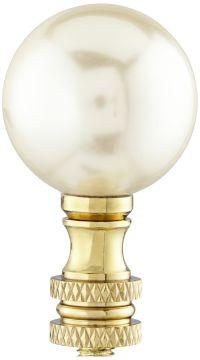 Ivory Pearl Lamp Shade Finial - #10R49 | Lamps Plus