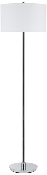 Halle Polished Chrome Minimalist-Modern Floor Lamp ...