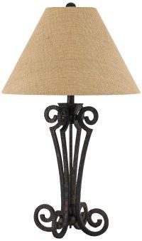 Blacksmith Black Wrought Iron Scroll Table Lamp - #10T96 ...